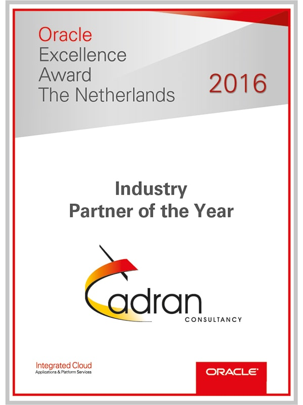 cadran oracle industry partner of the year