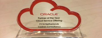 Oracle Cloud Service Offering partner of the year