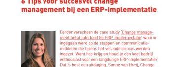 Interfood 6 tips voor succesvol change management bij een ERP-implementatie