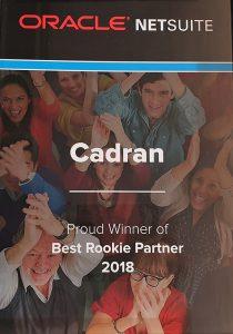Cadran-NetSuite-Best-Rookie-partner-2018-award